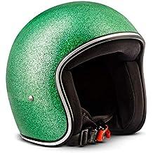 88ba8669255bc Rebel R2-Flakes – Casco retro de motocicleta scooter Vespa