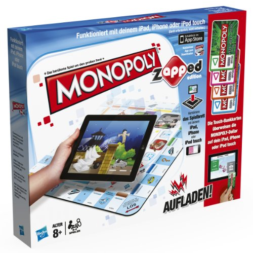 Hasbro 38115100 - Monopoly Zapped - spielbar mit iPad, iPhone und iPod Touch -
