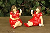 Dekofigur Badenixen Bella Kantenhocker sitzend, 2er Set