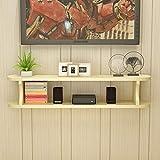 SjYsXm-Floating shelf Estante Estante Mueble de Entretenimiento para TV Stand Flotante Unidad de Almacenamiento para Caja de Cable de DVD (Color : B, Tamaño : 120CM)