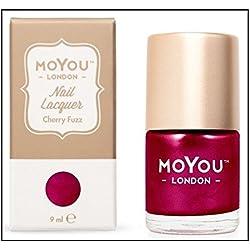 MoYou London–Esmalte de uñas especial para estampar, color Cherry Fuzz