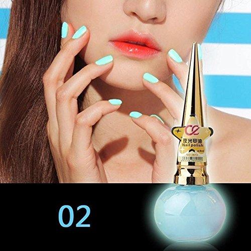 8ml Luminous Fluoreszierend Candy Farbe Glow in the Dark Umweltfreundliche Nagellack Make-up Tools