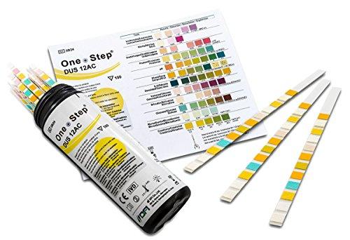 Gesundheitstest für Diabetiker 100 Stück - Urinteststreifen zur Bestimmung von 12 Werten (Blut Test)