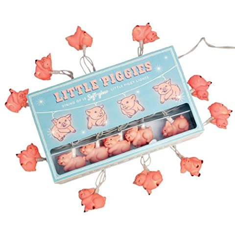 String Of 10 Soft Glow Little Piggies Party Lights