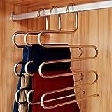 (4 Stück) Kleiderbügel Mehrfach-Hosenbügel Edelstahl