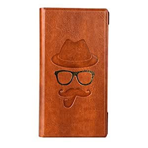 Jo Jo Moustche Series Cover Leather Pouch Flip Case For Xiaomi Redmi Note Prime Light Brown