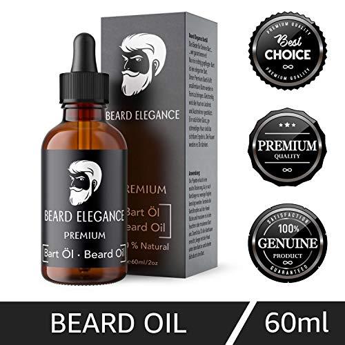 BEARD ELEGANCE Bart-Öl - Premium Bart-Öl Für Die Tägliche Bart-Pflege - Natürlicher Glanz & Geschmeidiges Haar - Schützt Vor Juckreiz Und Austrocknen - 60ml