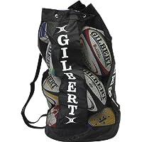 Gilbert - Bolsa para balones de rugby (capacidad para 12 balones) negro negro