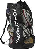 Gilbert Sac pour Ballon de Rugby aéré Noir Noir