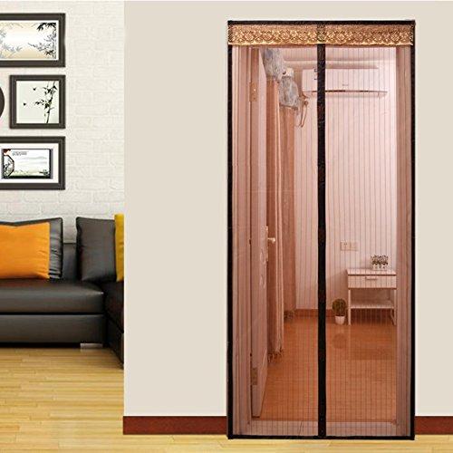 Türen mit magneten bildschirm,Türen für häuser bildschirm Velcro magnetische tür siebgewebe Der moskito Tür vorhang Magnetisch Hohe denisity Abgeschnitten Schlafzimmer Bildschirm-D 95x200cm(37x79inch)
