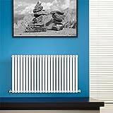 BestBathrooms Design-Heizkörper Horizontal Weiß - 600 x 1411 mm - Premium Paneelheizkörper für Zentralheizung - Einlagig - Perfekt für Küche, Bad & Wohnzi mmer