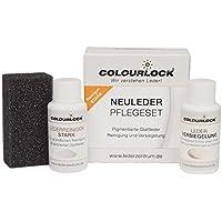 """Colourlock® Glattleder Pflegeset mit Leder Versiegelung Mini mit Lederreiniger """"stark"""", reinigt und versiegelt Leder (Auto, KFZ, Möbel, Lederjacke)"""