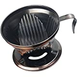 Anbau Reusable Portable Durable Stainless Steel Pour Over Cone Dripper Coffee Filter Strainer Holder Bronze