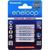 Sanyo eneloop AAA batterie micro capacité minimum 750mAh (capacité typique 800mAh) NiMH lot de 4, 4x 1,2V, NiMH
