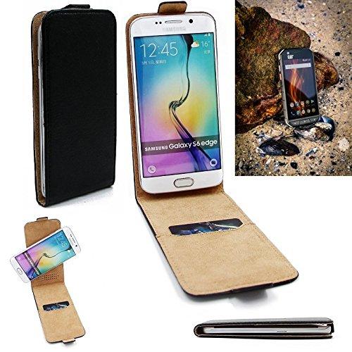 K-S-Trade Für Caterpillar Cat S31 Flipstyle Schutz Hülle 360° Smartphone Tasche, schwarz, Case Flip Cover für Caterpillar Cat S31