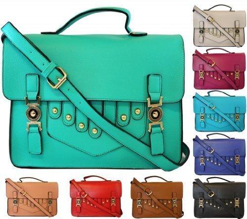KukuBird-Ladies-Metal-Pin-Leather-Large-Vintage-Work-Briefcase-School-Satchel-Shoulder