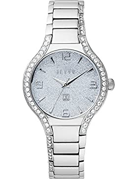JETTE Time Damen-Armbanduhr Analog Quarz One Size, silberfarben, silber