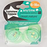 Tommee Tippee Closer To Nature Moda: 2 x Schnuller 6-18m (Grün)