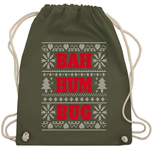 Weihnachten & Silvester - BAH HUM BUG - Unisize - Olivgrün - WM110 - Turnbeutel & Gym Bag -