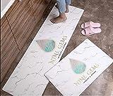 Teppiche wasserdicht und ölbeständig Haushalt Teppich PVC Leder rutschfeste Matte
