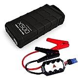AFTERPARTZ X500 Mini Auto Starthilfe 12000mAh 500A 12V Notstart PowerBank USB Output LED Leuchte EU-Ladegerät Autoladekabel Startkabel mit Schutzsystem