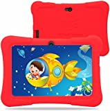 Dragon Touch 7-Inch Tablet with Silicon Case (Red) - (Allwinner Quad Core 1.2 GHz , 8 GB RAM, Android 4.4)