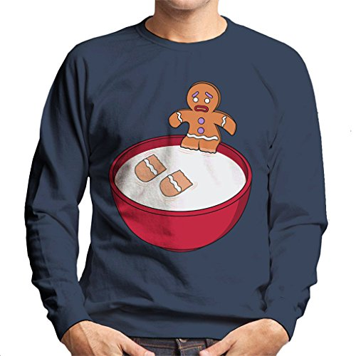 Shrek Gingerbread Man Milk Problems Men's Sweatshirt Shrek Gingerbread