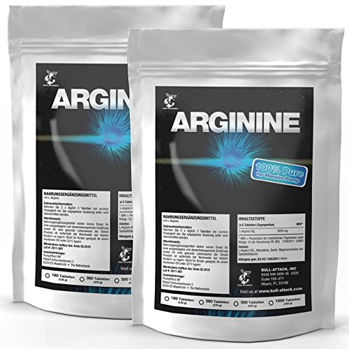 L-ARGININ | 500 Tabletten 3000 mg Portion | Vegan | Großpackung XL | Semi-essentielle Aminosäure | Zum Muskelaufbau Pre-Workout & zur Verbesserung der Durchblutung | Zum fairen Preis