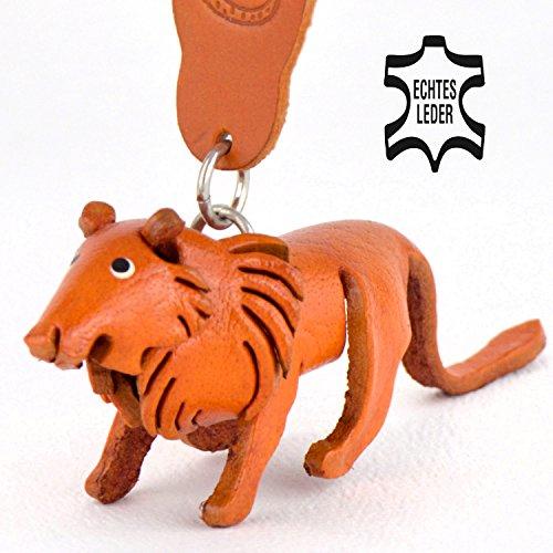 Löwen Leo - Deko Schlüsselanhänger Figur aus Leder in der Kategorie Kuscheltier / Anhänger von Monkimau in natur braun - Dein bester Freund. Immer dabei! - 5x2x4cm LxBxH klein, jeweils 1 Stück