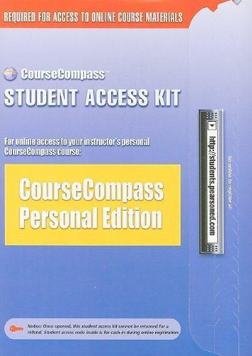 Build-Your-Own CourseCompass Student Access Kit 1st edition by Allyn & Bacon/Longman (2002) Paperback