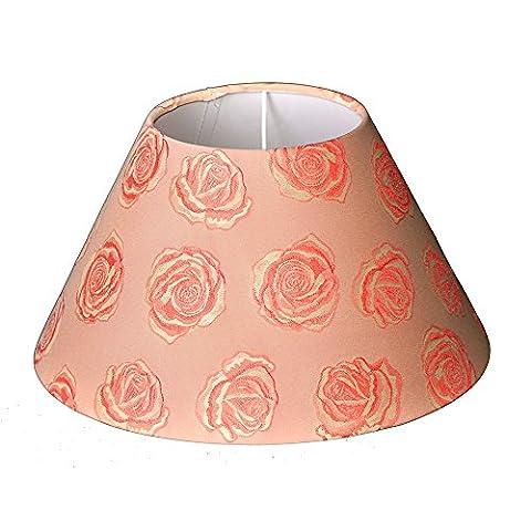 Lampshade in rose made of fabric, TL Schirm unten Ø30cm
