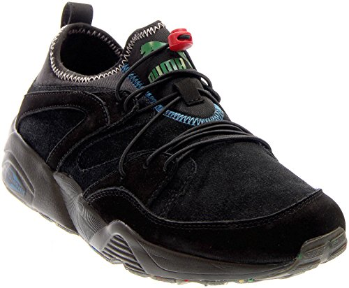 Puma BOG Soft Flag Cuir Chaussure de Course Black-Veiled Rose-Amazon