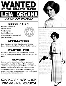 Princess Leia Star Wars Reproduction Wanted Poster 40x30cm