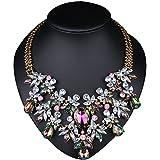 Girl Era Europe Vintage Costume Jewelry Multi-Crystal Bib - Best Reviews Guide