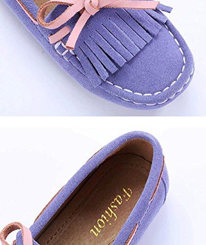 CHENGYANG Enfant Fille Garçon Chaussure Bateau Mocassin Confort Chaussures Plates Loafers Violet