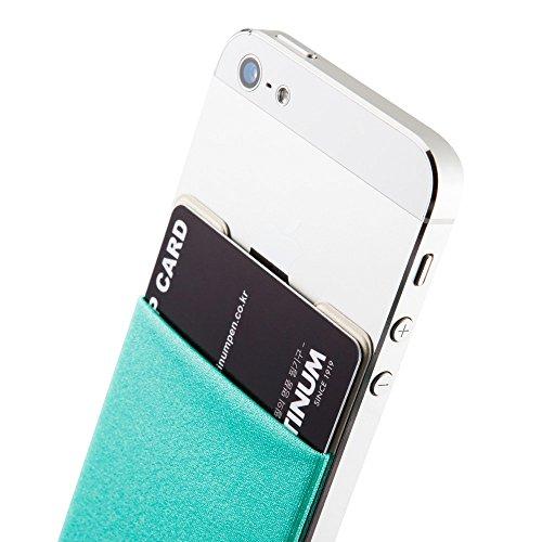 Sinjimoru B3 Smart Wallet (aufklebbarer Kartenhalter), verwendbar als iPhone Wallet / Handy Geldbeutel / Kartenetui für iPhones, iPhone Cases, Android Smartphones. Sinji Pouch Basic 3, Schwarz. Mint