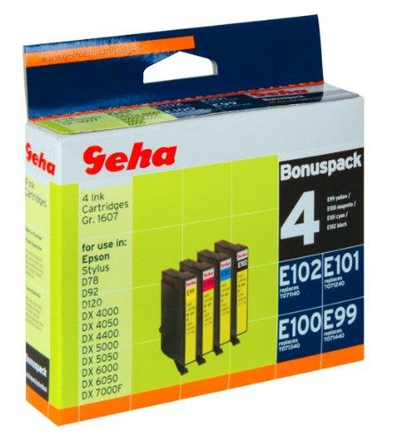4 Geha Tintenpatronen im Multipack für Epson ersetzt Nr. T0714 yellow