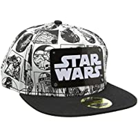 Star Wars Comic Style with Metal Plate Logo Snapback Cap