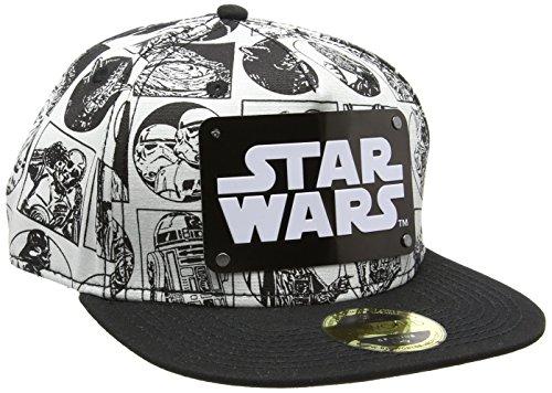 Star Wars Comic Style with Metal Plate Logo Snapback Cap nero/bianco