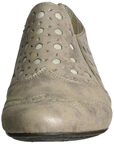 Rieker 51952, Mocassini Donna Grigio (Altgold/grey / 90)