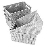 A+I cestini in plastica intrecciata selezionati sono una soluzione elegante per tutte le vostre esigenze. Mostrate questi cestini su scaffali, librerie o anche sul pavimento, per nascondere ordinatamente libri, giocattoli o vestiti. Da usare in camer...