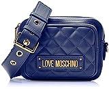 Love Moschino Damen Quilted Nappa Pu Umhängetasche, Schwarz (Nero), 15x10x15 centimeters