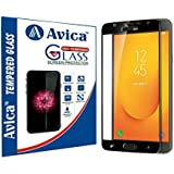 AVICA® Edge To Edge Full Glue Black 5D Curved Full Front Body Covered Tempered Glass Screen Protector For Samsung Galaxy J7 Duo