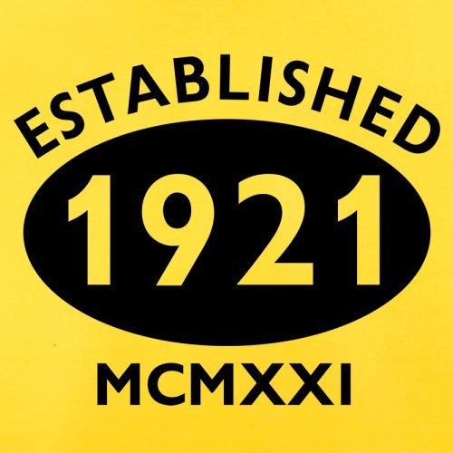 Gegründet 1921 Römische Ziffern - 96 Geburtstag - Herren T-Shirt - 13 Farben Gelb