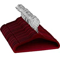 Premium Kids Velvet Hangers - 50 Pack | 35.5cm Wide, Durable Non Slip Childrens Clothes Hanger, Space Saving Kids Hangers, 360° Swivel Hook, Junior Velvet Hangers for Coat, Jacket, Trouser & Shirt