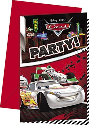 Disney Silver Edition Invitations Cars, Lot de 6