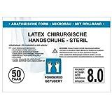 SFM ® OP Latex : 6.0, 6.5, 7.0, 7.5, 8.0, 8.5, 9.0 steril gepudert mikro texturiert chirurgische OP Handschuhe weiß 8.0 (50 Paare)