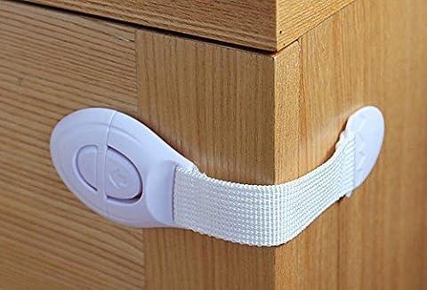 Yiwa Verlängerte Sicherheitsschloss Schubladen Verriegelung 10 X Baby Schubladen Schrank Schrank (Van Sicherheitsgurt)