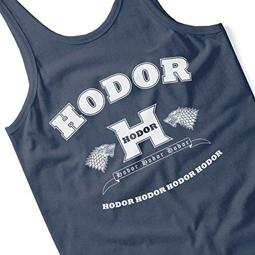 Hodor Language Academy Game Of Thrones Men's Vest Navy Blue