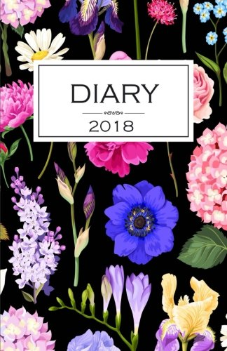 Diary 2018: Floral Black Diary/Journal With 150 Blank Pages To Write Or Draw In por Kensington Press